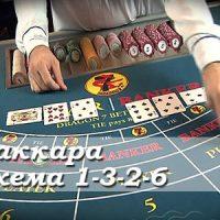 Стратегия баккара: 1-3-2-6